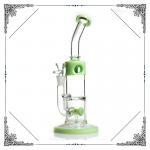 Quality Mini Bong Glass Water Bubbler Tornado Double Showerhead Perc wholesale