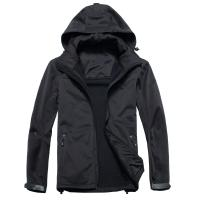 Collapsible Mens Hooded Fleece Jacket With Environmental Material