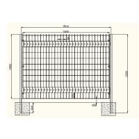 Quality Acid Resisting Square Welded Wire Mesh , Welded Wire Fence Panels Simple Structure wholesale