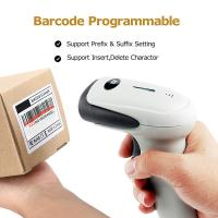 Wired 1D Hands Free Barcode Scanner 2.4Ghz Receiver With Long Range Transmission
