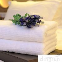 Quality White Color Luxury Pure Cotton Bath Towels Home / Hotel Use Soft Touch Azo Free wholesale