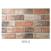 Cheap 210 * 55 * 12mm Clay Thin Veneer Brick / Thin Brick Veneer Interior Walls for sale