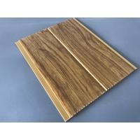 Quality 5mm Thickness Ceiling PVC Panels For Kitchen Two Golden Line Wooden Color wholesale