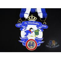Quality Durable Custom Insert Medals , Crown Awards Medals Antique Silver Plating wholesale