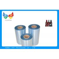 Quality High Shrinkage 45mic Clear PET Shrinkable Film Rolls Plastic Film For Sleeves wholesale