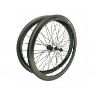 Quality 23MM Width 700C Carbon Road Bike Wheels 45MM Clincher Shiny / Matte Finishing wholesale