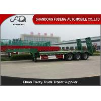 Quality 30 Ton - 60 Ton -100 Tons Customized Lowboy Semi Trailers / Drop Bed Low Loader Trailer wholesale