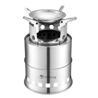 Quality Stainless Steel Wood Burning Camping Stove With 4 Flexible Non Slip Arm wholesale