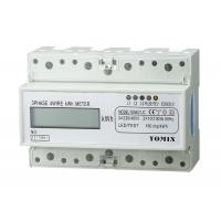 Quality 7 Module Din Rail 4 Wire Three Phase Power Meter CT Connection 10 ( 100 ) A 3 * 230V / 400V 50HZ wholesale