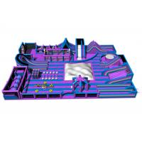 Buy cheap Purple Gigantic Inflatable Theme Park / 0.55 PVC Tarpaulin Inflatable Trampoline Park from wholesalers