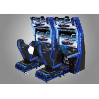 Buy cheap Car Race Force Feedback Steering Racing Simulator Game Machine With 14 Cars Unlocked from wholesalers