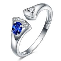 Buy cheap Fashion Open Ring Jewelry , Unique White Gold Sapphire Engagement Rings from wholesalers