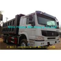 Quality 6 x 4 336hp / 371hp Sinotruk Howo Tipper  Dump Truck Hyva Lifting Iso Ccc  thickness of bottom and side wholesale