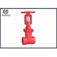 Groove End Rising Stem Gate Valve , Stainless Steel Gate Valve For Water Pipelines