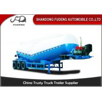 Buy cheap 30-60 Cubic Meter Bulk Cement Tanker Trailer 3x13 Ton Axle Steel Q345B End Plate from wholesalers