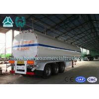 Quality 54 m3 High Performance road tank semi trailer  For Oil Carrying 55 Tons - 75 Tons wholesale