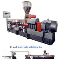 Quality 300 - 400 Kg / H Double Screw Extruder Machine With Under Water Pelletizing System wholesale