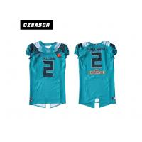 Quality Polyester Mesh Sublimated Football Jerseys / American Football Shirt For Training wholesale