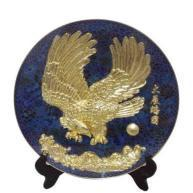 Enamel Plate With hawk