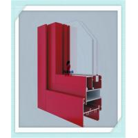 Cheap Anodized Flat Open Window Aluminum Profile For Glass Wall Red Color ISO Certification for sale