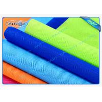 Big Roll Spun Bonded Non Woven , 100% PP Material Embossed Colorful