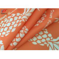 Quality Printed 4 Way Stretch 87 Polyester 13 Spandex Fabric For Bikini , Waterproof wholesale