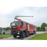 Quality 8x4 Driving Fire Engine Vehicle , Large Capacity Tower Ladder Fire Truck wholesale