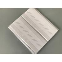 Quality 200*7mm Middle Groove Decorative Plastic Ceiling Panels With Two Silver Line wholesale
