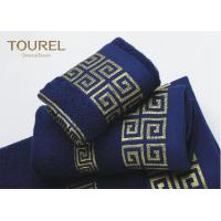 Quality Luxury Hotel Bath Towels16s Blue Color Hotel Collection Towels wholesale