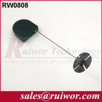 Quality 0.6 Mm Cable Diameter Display Security Tether With Sticky Flexible ABS Plate wholesale