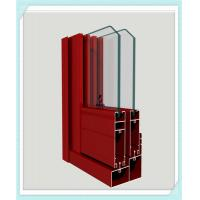 Quality Lightweight Window Aluminum Profile Corrosion Resistance Red Color Smooth Surface wholesale