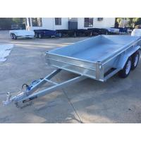 Quality 10x5 Hot Dipped Galvanized Tandem Trailer 3200KG With Mechanical Disk Brakes wholesale