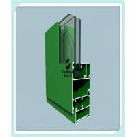 Quality Anodized / Powder Coated Window Aluminum Profile Green Color ISO Certification wholesale