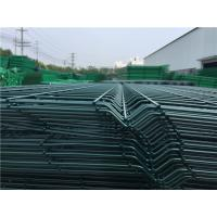 Quality 3D Curved Bending Metal Mesh Fencing Broad Vision With 2 / 3 / 4 Folds wholesale