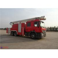 Quality High Strength Telescopic Crane Fire Fighting Vehicles , Heavy Duty Fire Truck Leg Action Time ≤40s wholesale