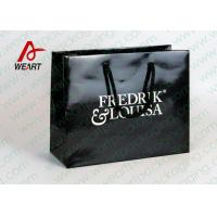 Quality Black Glossy Lamination Custom Printed Retail Bags , Modern Kraft Paper Shopping Bags wholesale