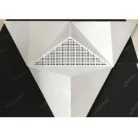 Quality Sound Absorption Coefficient Ceiling Clouds / Perforated Metal Ceiling Tiles wholesale