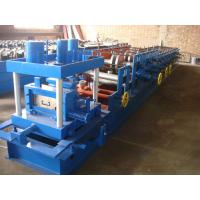 Automatic 80-300Z C Section Roll Forming Machine 12 Rows Cold Forming Process