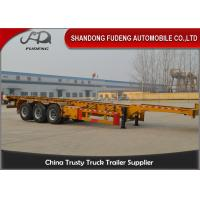 Quality 40 foot straight frame container chassis tri axle container carrier truck semi trailer wholesale