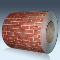 Brick Pattern Color Coated Steel Coil For Exterior Wall Panels ISO Approval