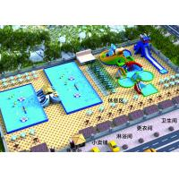Buy cheap Outdoor Entertainment Inflatable Water Parks / Commercial Water Slide from wholesalers