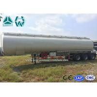 Quality High Capacity Fuel Tanker , 40000L - 60000L Oil Fuel Tanker Semi Trailer wholesale