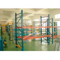 Quality Double Deep Pallet Racking System For Warehouse , Each Level Adjustable Pallet Racking Box Shape Beam wholesale