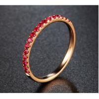 Buy cheap Eternal 18K Rose Gold Rubies Wedding Ring Lady Engagement Band Fine Jewellery from wholesalers