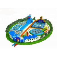 Buy cheap Big Inflatable Water Park For Adults / Blow Up Water Slide With Pool from wholesalers