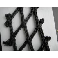 Black Super PE HDPE Fishing Nets / Fish Catching Net , Single / Double knotted