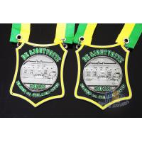 Quality Nicekl Plating Soft Enamel Medals , Die Strucking Custom Medallions With Cord wholesale