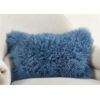 Luxury 100% Real Mongolian Fur Pillow For Home Bedroom Decorative 12 X 20