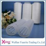 AAA Grade 402 Raw Pattern 100% Spun Polyester Yarn On Plastic Cone