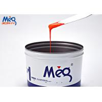 Quality Orange Water Based Ink , Curing Water Based Screen Printing Ink For Paper wholesale